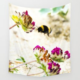 the flight of bumble bee on the dunes I Wall Tapestry