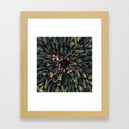 focus flowers Framed Art Print