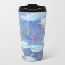 Claude Monet Water Lilies Pink 1899 Travel Mug