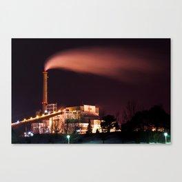 smoke stack long exposure Canvas Print