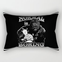 Pugsley & Gorgo: Normal Is Boring Rectangular Pillow