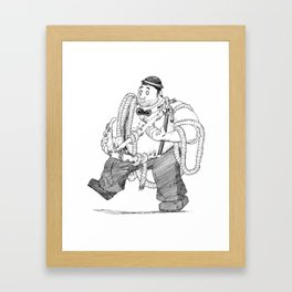 Heavy Lifting Framed Art Print