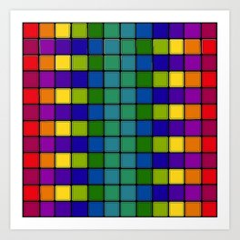 Out of Focus Chex Art Print