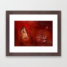 Lady in red - Island Framed Art Print