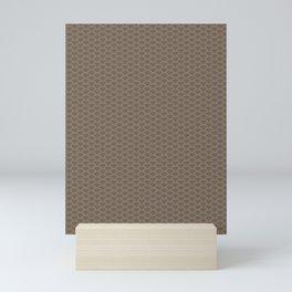 Pantone Hazelnut Stitch Scallop, Wave Pattern Mini Art Print