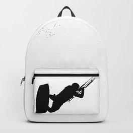 Up Up And Away Kiteboarder Silhouette Backpack
