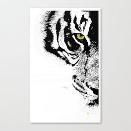 Art print: The yellow eye of the tiger Canvas Print