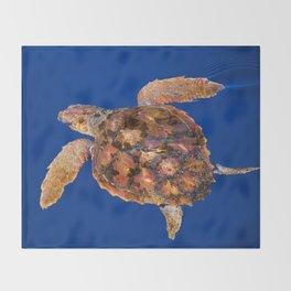 Loggerhead turtle Throw Blanket