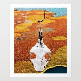 Skull Dive Art Print