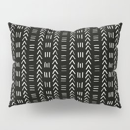 Mudcloth No.2 in Black + White Pillow Sham