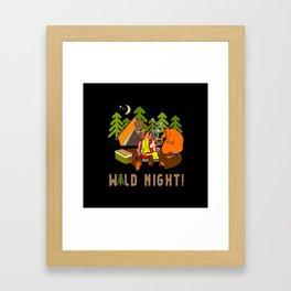 Camping Wild Night Framed Art Print