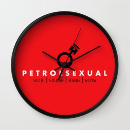 PETROLSEXUAL v1 HQvector Wall Clock