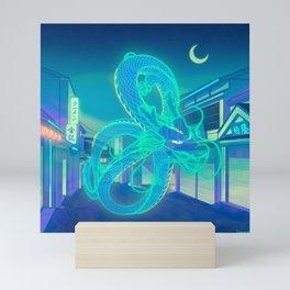 Neon Dragon Mini Art Print