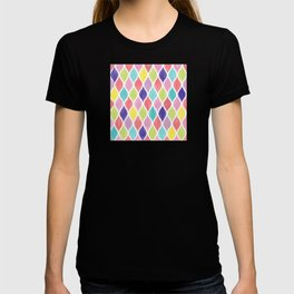 Preppy Wet Pastel Pattern in Blue, Pink, Salmon, Yellow, and Purple T-shirt