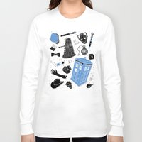 doctor Long Sleeve T-shirts featuring Artifacts: Doctor Who by Josh Ln