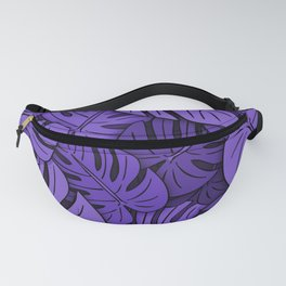 Monstera Leaves Ultraviolet Fanny Pack