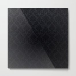 Black damask - Elegant and luxury design Metal Print