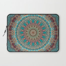 Vintage Turquoise Mandala Design Laptop Sleeve