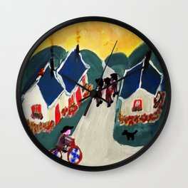 """Au Revoir"" Wall Clock"