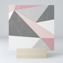 Grunge Geometric Retro Pattern Mini Art Print