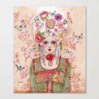 marie antoinette Canvas Prints featuring Marie-Antoinette by Minasmoke