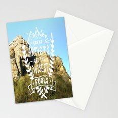 Great artists are the wisest fools Stationery Cards