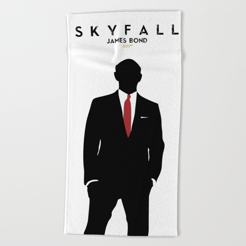 Skyfall james bondminimalist design alternative poster daniel craig javier bardem sam mende beach towel