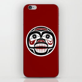 Northwest Pacific coast Haida Weeping skull iPhone Skin