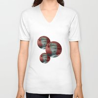 diamonds V-neck T-shirts featuring diamonds by Rosa Picnic