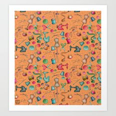 Sewing tools - naranja Art Print