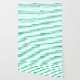 Broken Lines Pattern Bright Mint Wallpaper