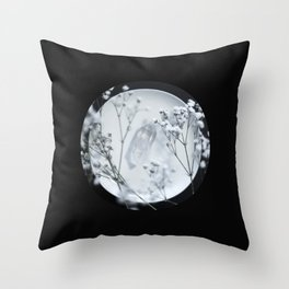Silver Kiss II  Throw Pillow