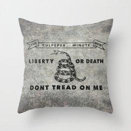 Culpeper Minutemen flag, aged vintage style Throw Pillow