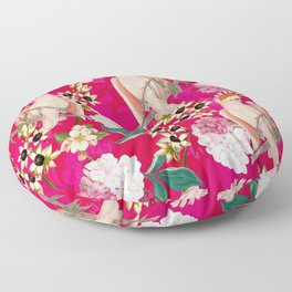 Vintage & Shabby Chic - Tropical Bird Flower Garden Floor Pillow