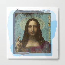 Leonardo Da Vinci's Salvator Mundi (Pop Art by ACCI) 4 Metal Print