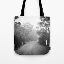 Mount Wellington Misty Road Tote Bag
