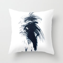 Abstract ink splashes Throw Pillow
