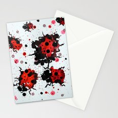 Splattered bugs Stationery Cards