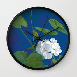 Potted Geranium Wall Clock