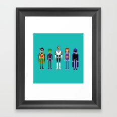 Teenage Superheroes Framed Art Print