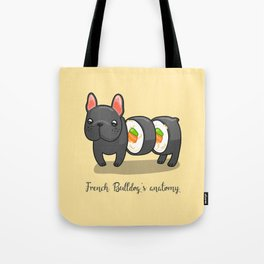 French bulldog maki sushi Tote Bag