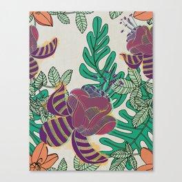 Lush Florals (Jungla 01) Canvas Print