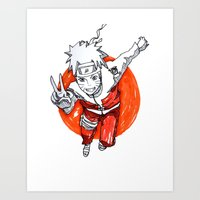 naruto Art Prints featuring Naruto by jas_sparks