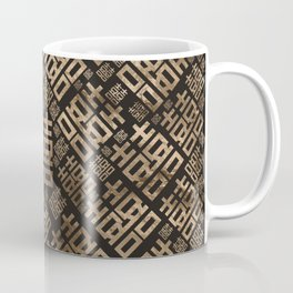 Square Double Happiness pattern - Pastel gold #2 Coffee Mug
