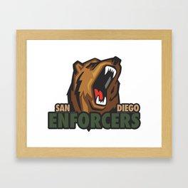 Enforcers New Logo Framed Art Print