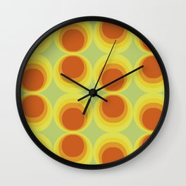 Abstract art with a vintage touch: Solar system Wall Clock