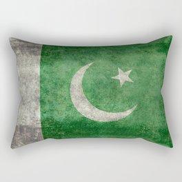 Pakistani flag, vintage retro style Rectangular Pillow