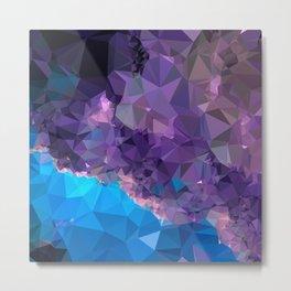 Geometric Galaxy Low Poly 1 Metal Print