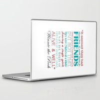 winnie the pooh Laptop & iPad Skins featuring Winnie the Pooh Friendship Quote - Red & Teal by Jaydot Creative