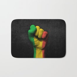 Mali Flag on a Raised Clenched Fist Bath Mat
